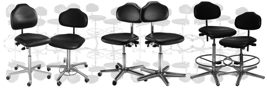 ergonomic clean-room chairs and mats
